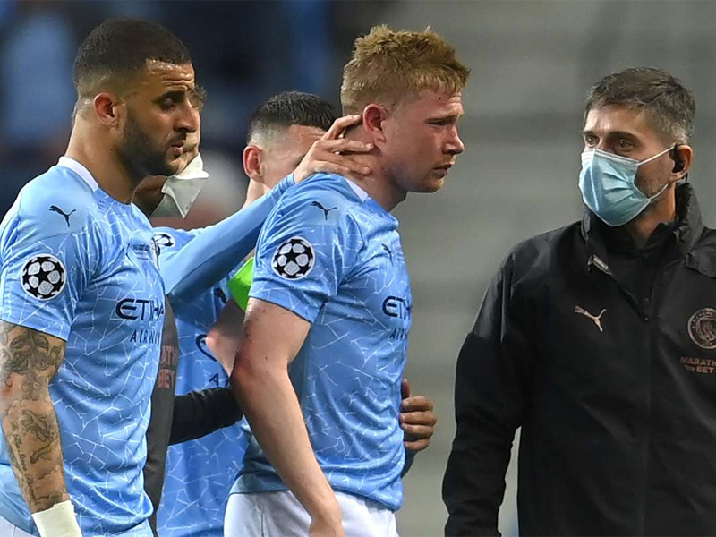 Manchester City midfielder fractures nose and eye socket