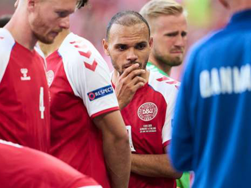 Resuming Denmark-Finland match was 'least bad decision', says Martin Braithwaite