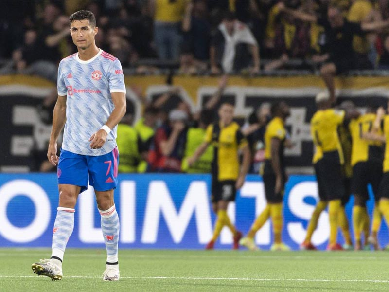 Manchester United conceded a dramatic stoppage-time goal as they lost to Young Boys despite Cristiano Ronaldo scoring on his Champions League return for the Red Devils