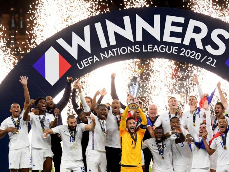 Kylian Mbappe fired a contentious winner as France came from behind to beat Spain and become the second team to win the Nations League